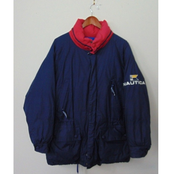 Nautica Jackets Coats Vintage Mens M Zip Down Puffer Coat Jacket